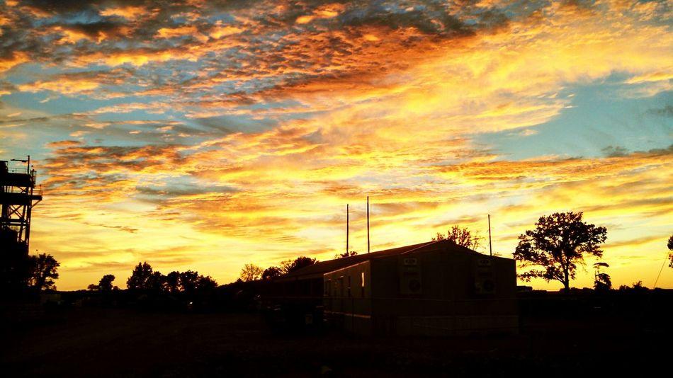 Sunset Golden Sky Cloudy Sunset Filtered Photography