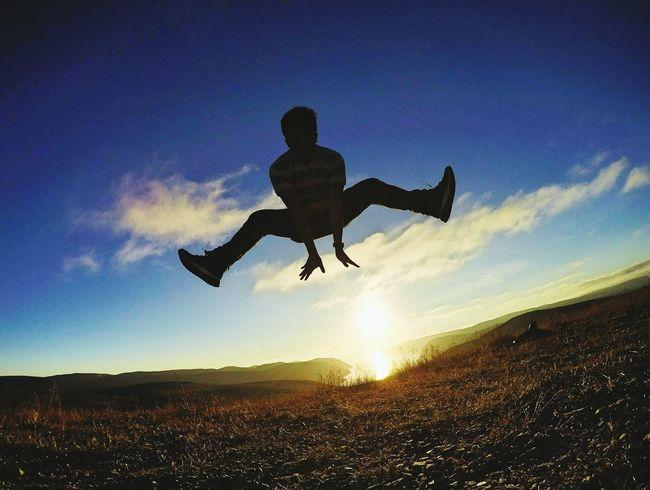 Jumpshot Jump Midnight Sun Midnightsun Nordkapp Norway