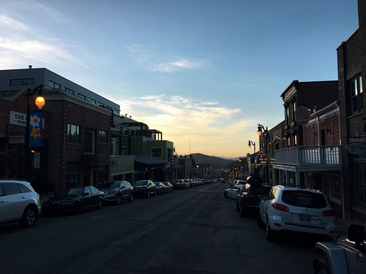 another nice evening out there tonight. walking back from dinner down Main Street. Park City, Utah