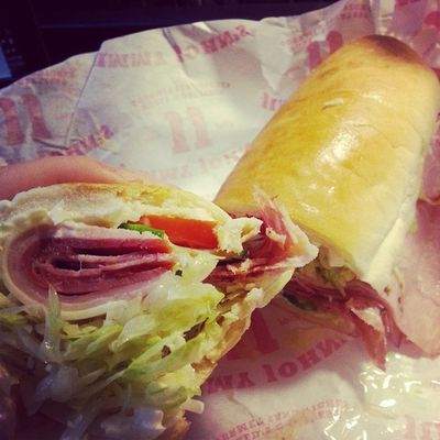 This sandwich is a thing of beauty Sandwiches ! Jimmyjohns Nomnomnom Lunch