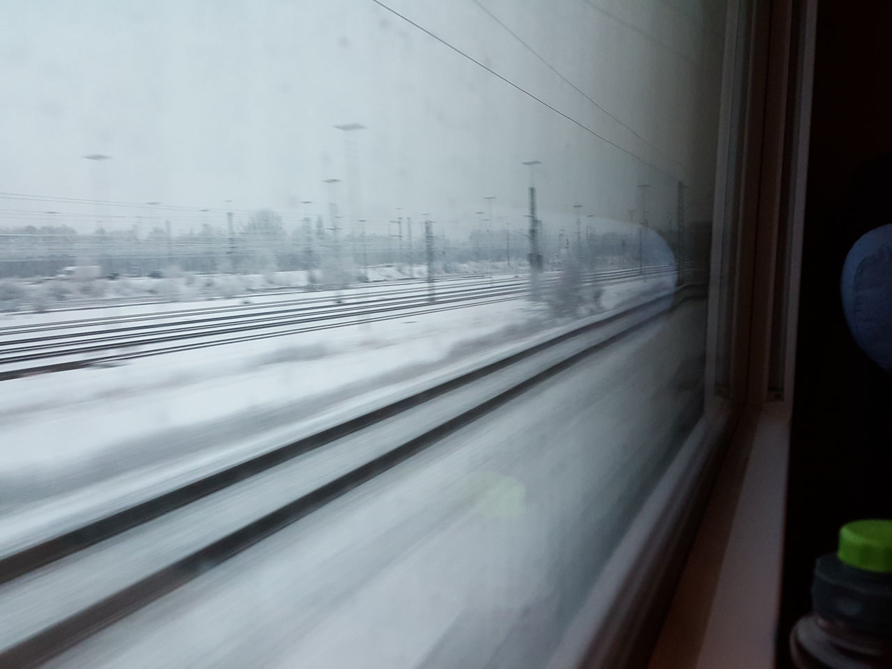 Train Ride Train Window Transportation On My Way On My Journey Domestic Room Fast Motion Snow White Snowy Snowy Landscape