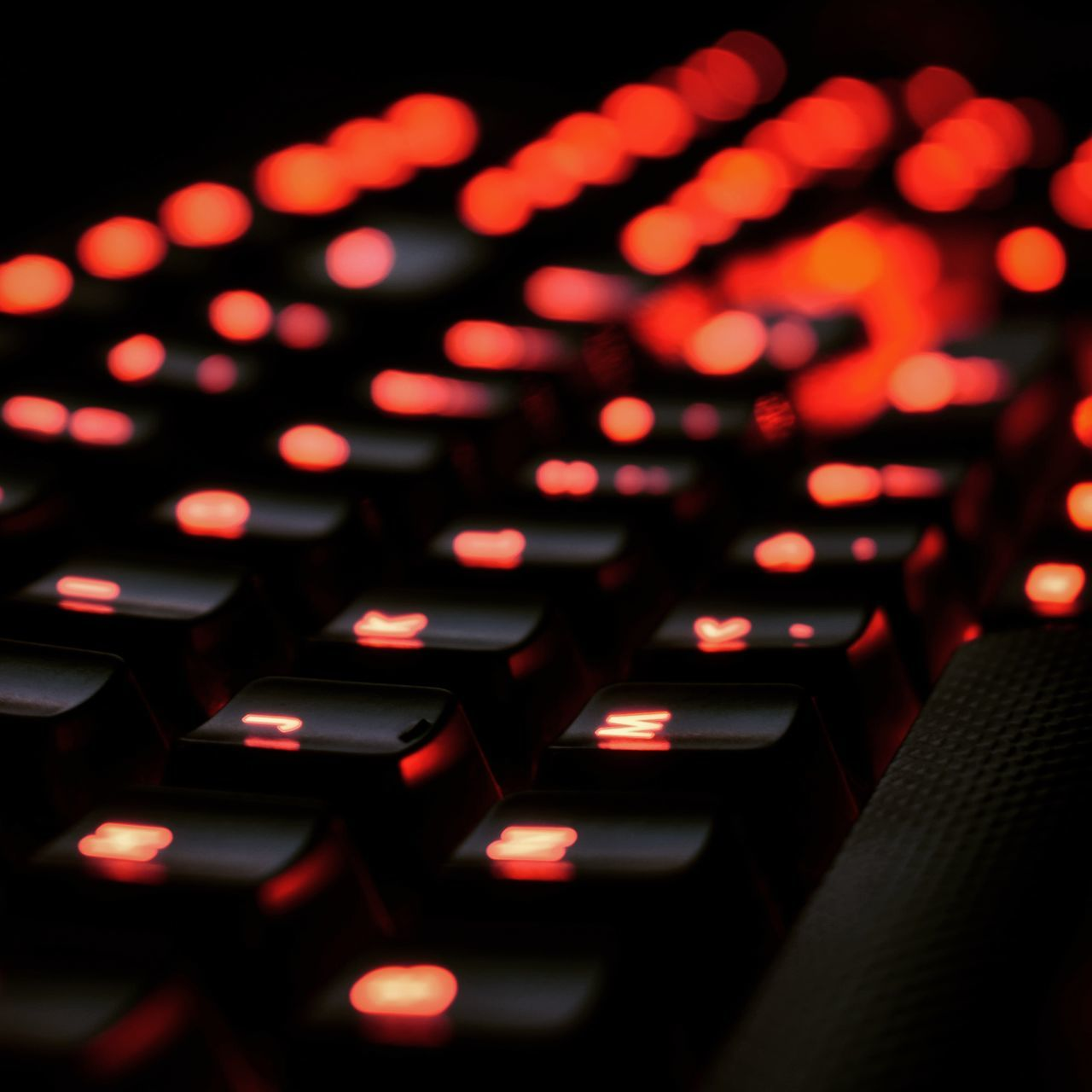 no people, indoors, technology, illuminated, close-up, night, computer keyboard, keyboard, computer key