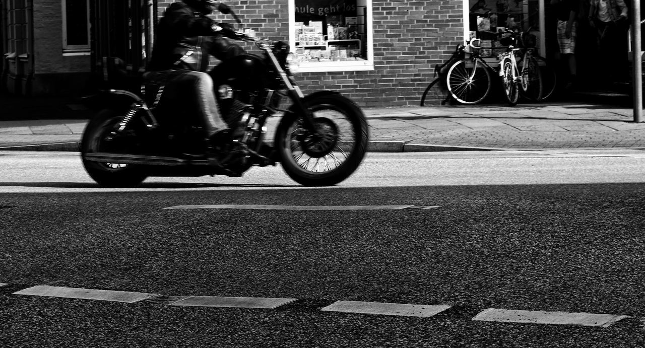 Streetphotography Outdoors Streetphoto_bw Rapid City Day Adult Photography Blackandwhite Taking Photos Black & White Monochrome Photography Light And Shadow Motorcycle Capture The Moment Monochrome Moments Outdoors Photograpghy  Black And White Photo Shoot Movement Photography Move