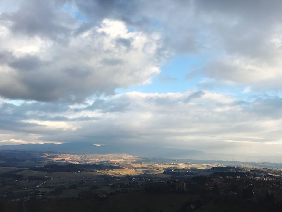 Sky Landscape Cloud - Sky Scenics Beauty In Nature Nature Tranquil Scene Outdoors Tranquility No People Mountain Day Umbria Italy Todi  Sun