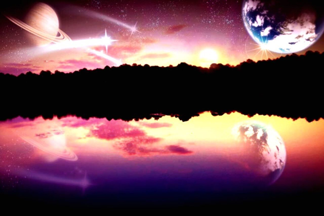 Space Night Moon Star - Space Nature Backgrounds No People Heat - Temperature Astronomy Beauty In Nature Sky Outdoors Fantasy World Science Fiction South Carolina Cloud - Sky Dream Shooting Stars Shooting In The Evening Light IPhoneography Iphoneonly Iphone6 Apple Photoshop Edit
