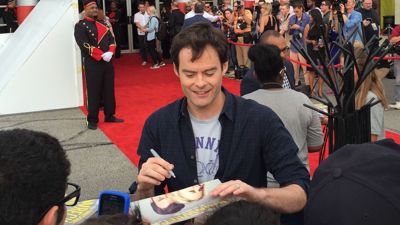 SNL Alummni Bill Hader signing autographs for fans during redcarpet for Trainwreckmovie in Akron. Celebrity Comedy MOVIE SaturdayNightLive Amyschumer Trainwreck IPhoneography IPhone Photography Akron