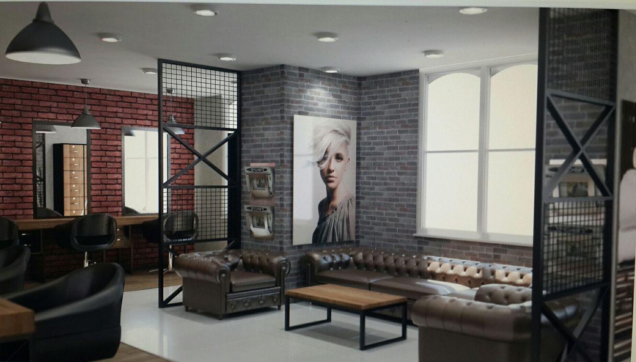 Hairsalon Interior Design 3dsMax Vray Vray Render Rendering Ankara Belgium Holland Hungary Europe Istanbul Turkey Kazakhstan Azerbaijan