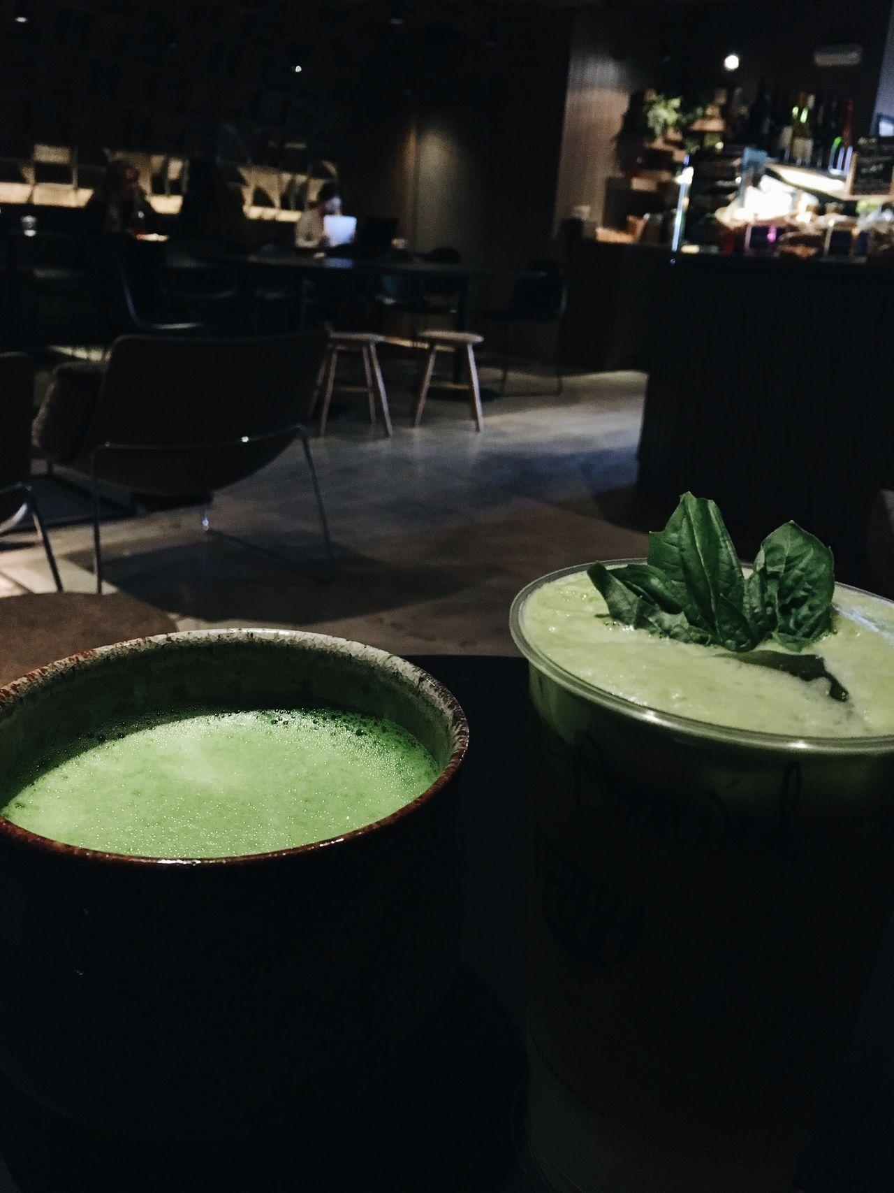 Matcha tea Tea Tea Time Matcha Green Color Green Drink Hot Iced Latte Dim Light