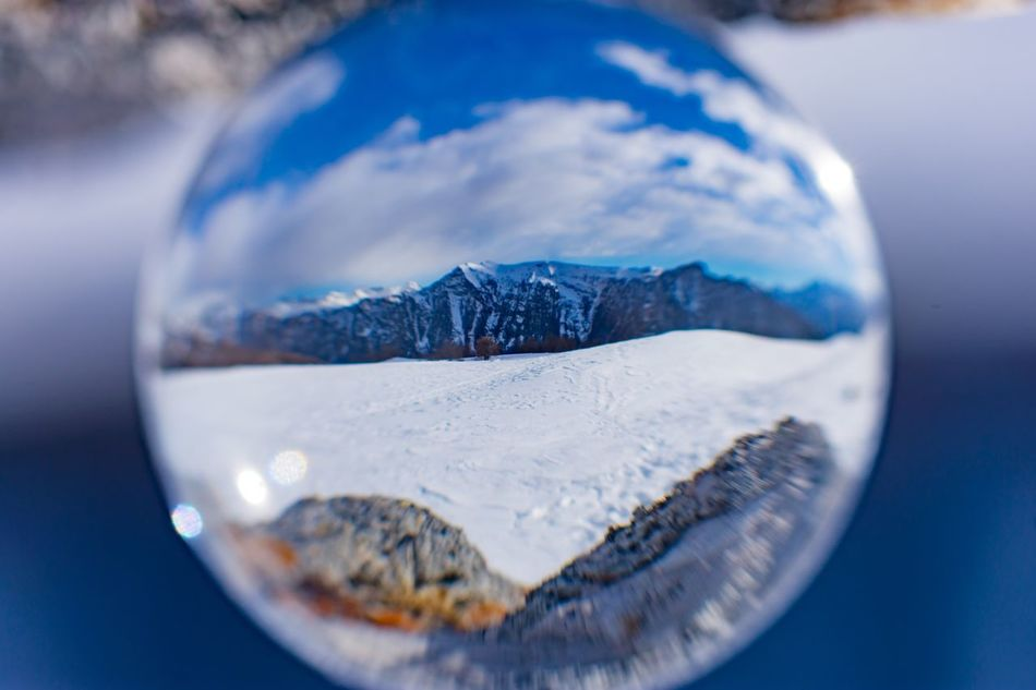 Close-up No People Cold Temperature Indoors  Day Cristalball Mountain Snow Awesome Beauty In Nature Beautyfulplace