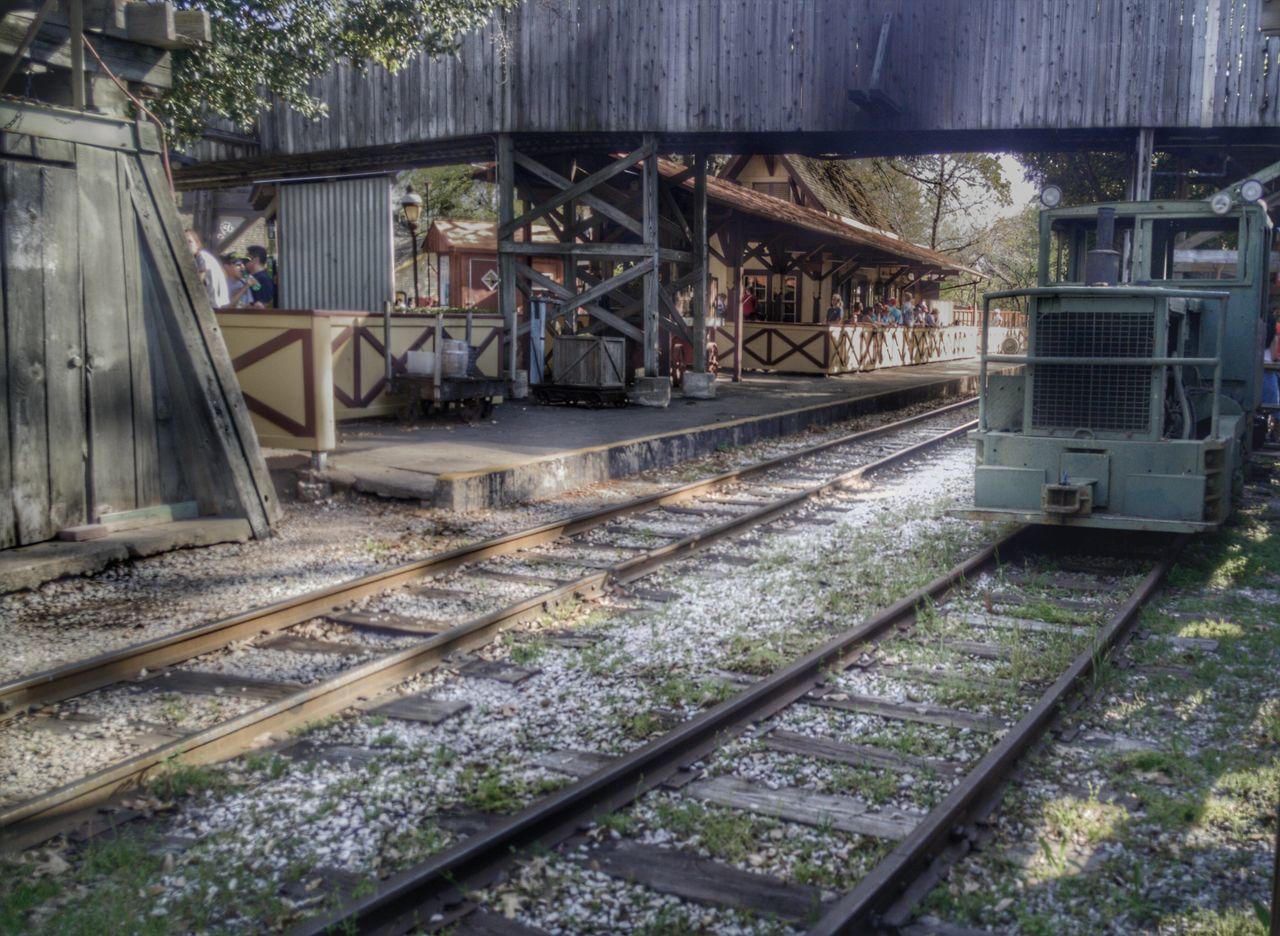 Six Flags Over Texas The Texas Giant Roller Coaster Sunny Day Fun Train Train Tracks Amusment Park