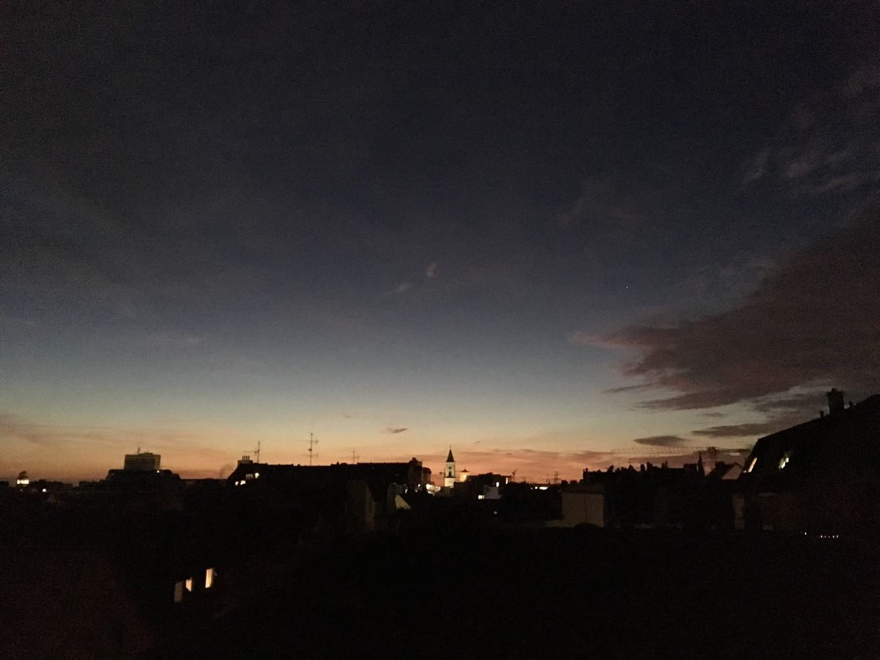 silhouette, architecture, built structure, sky, sunset, building exterior, cloud - sky, nature, no people, city, outdoors, beauty in nature, scenics, tree, day