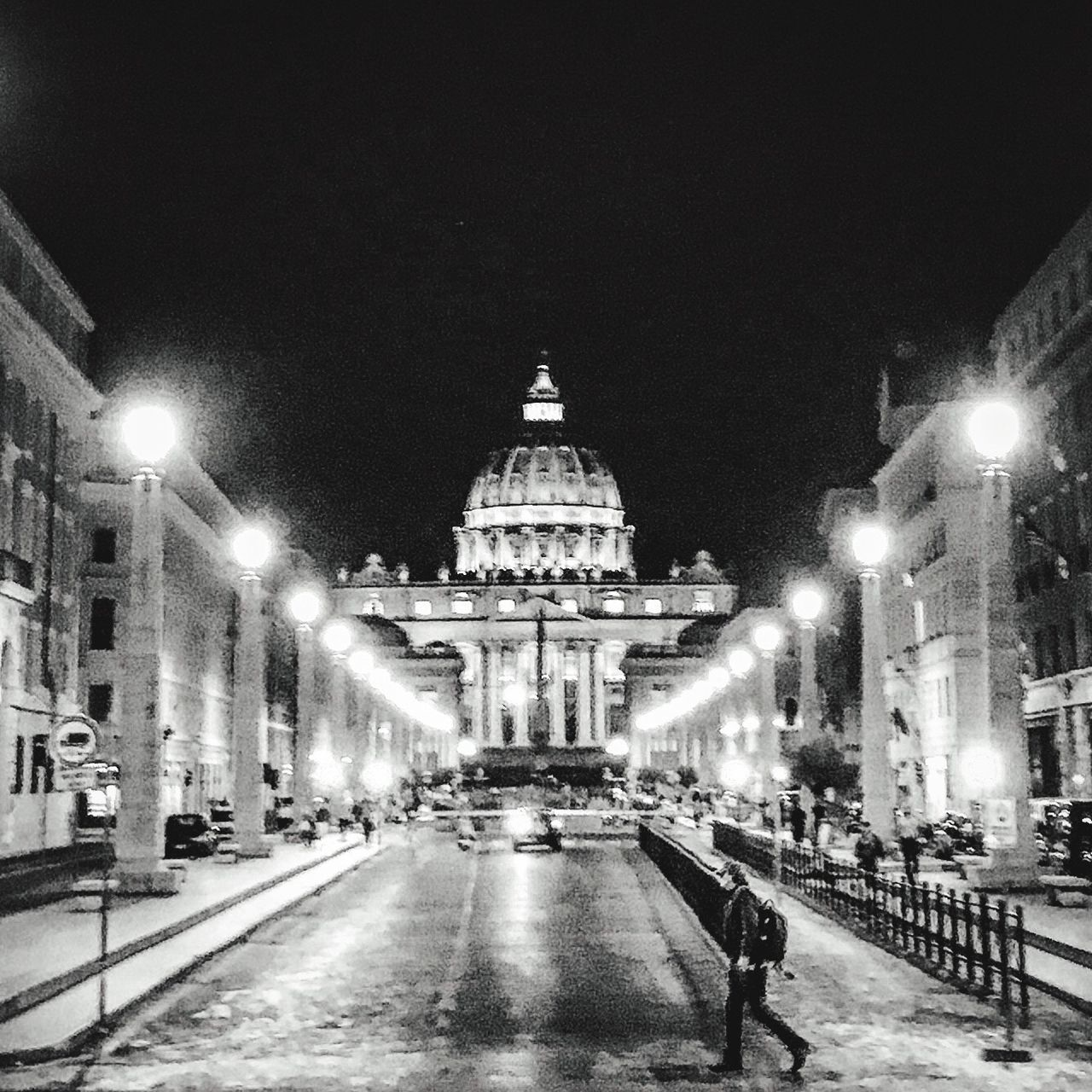 St. Peter View By Night Night Travel Street Photography Stpeter San Pietro Rome Roma Romebynight Architecture City