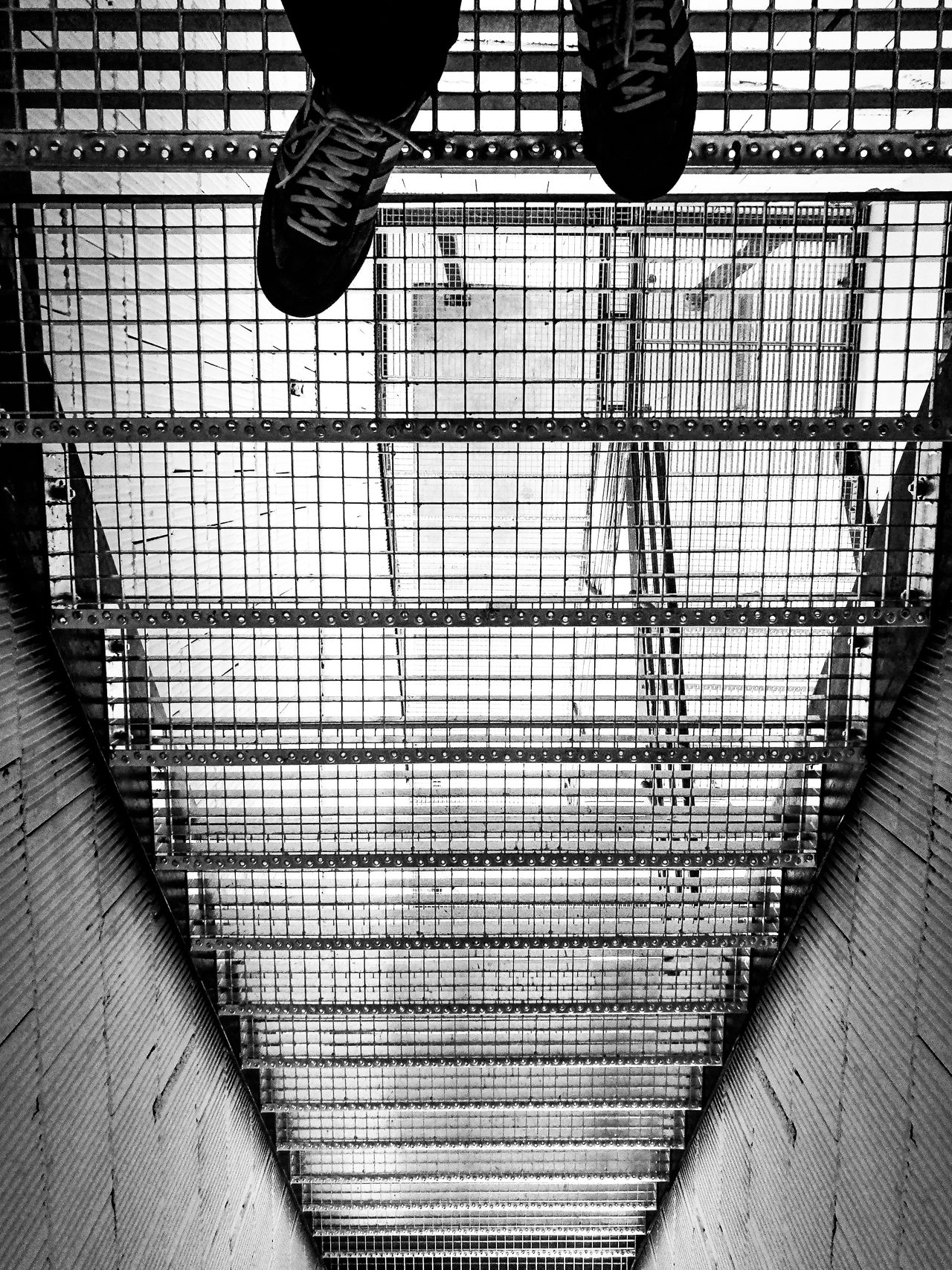 Abyss Adidas Adult Ascend Blackandwhite Day Human Leg Indoors  Low Section Men One Man Only One Person People Real People Shoes Stairs Steel Stairs