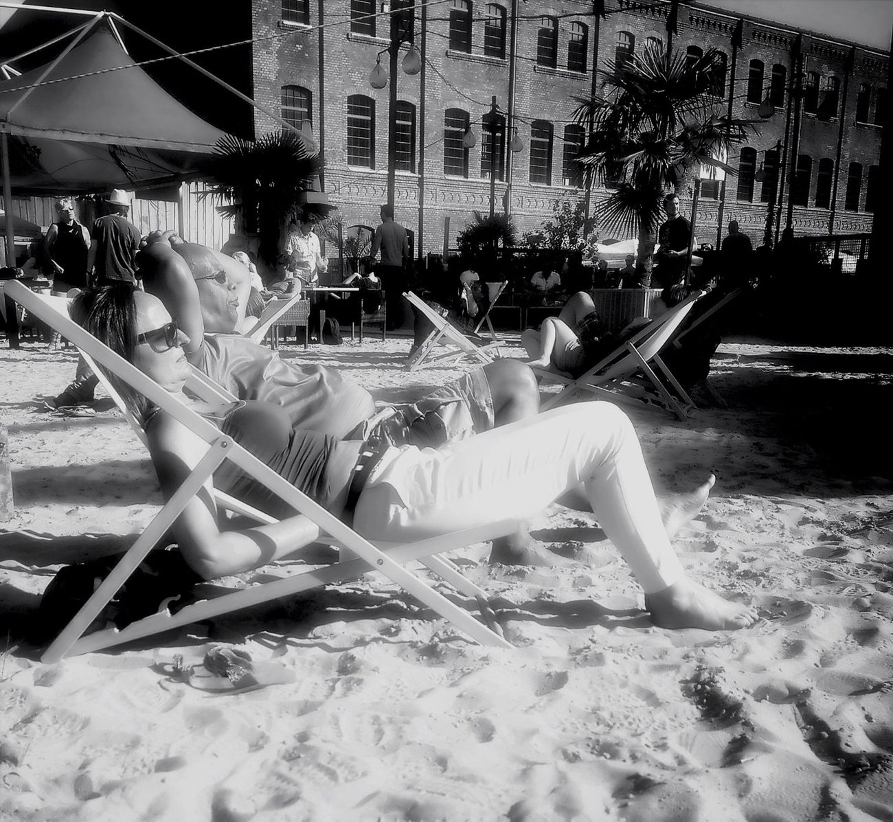 Streetphotography Chillaxing Blackandwhite Enjoying The Sun