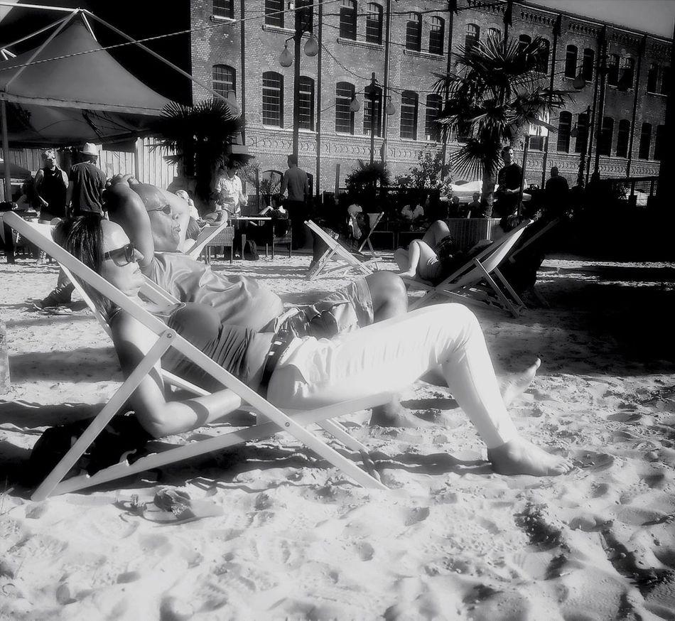 Streetphotography Chillaxing Blackandwhite Enjoying The Sun
