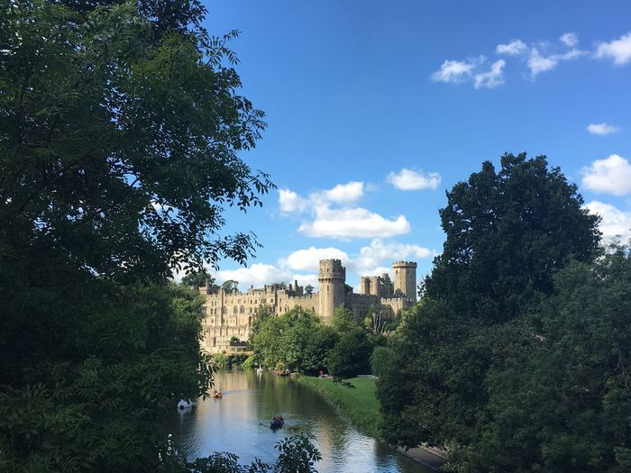 Castle Tree Architecture Sky Water River Tourism Building Exterior History Historical Building Travel Destinations Warwick Castle