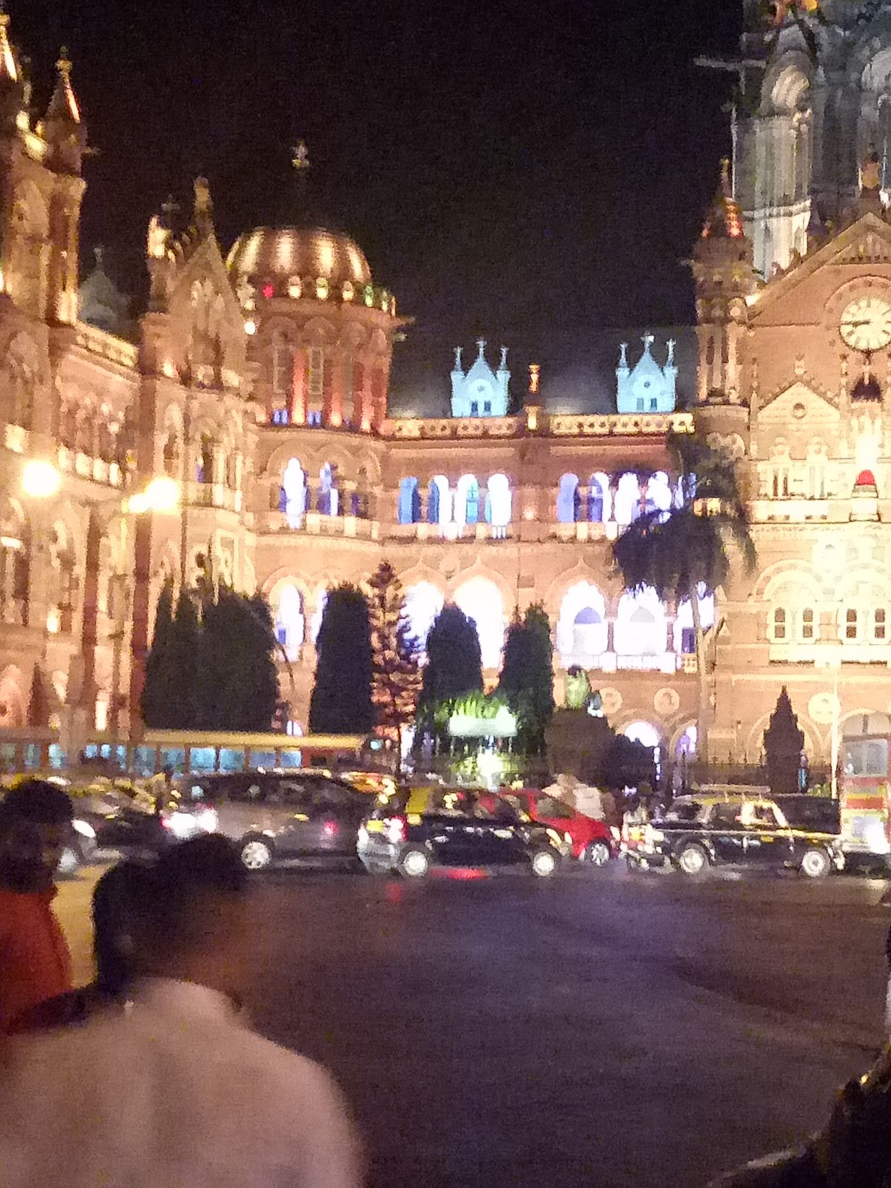 Proud and Happiest to be Mumbai'kar. Also my native UNESCO World Heritage Site Unescoworldheritage Mobile Phone Photography Mobile_photographer Mobilephotography Cstmumbai CST Mumbaikar Mumbai_in_clicks Mumbai MumbaiDiaries City Nightlife Cityscape Sculpture Outdoors Building Exterior Travel Destinations Architecture Built Structure Crowd Night Illuminated