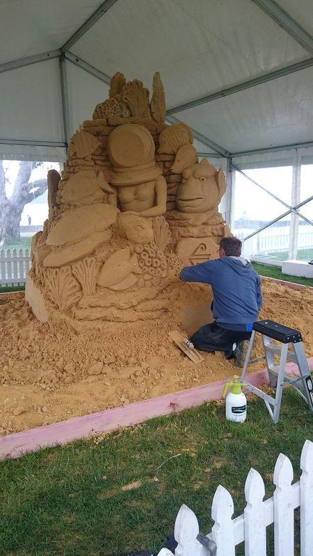 Great Barrier Reef Sand Sculpture