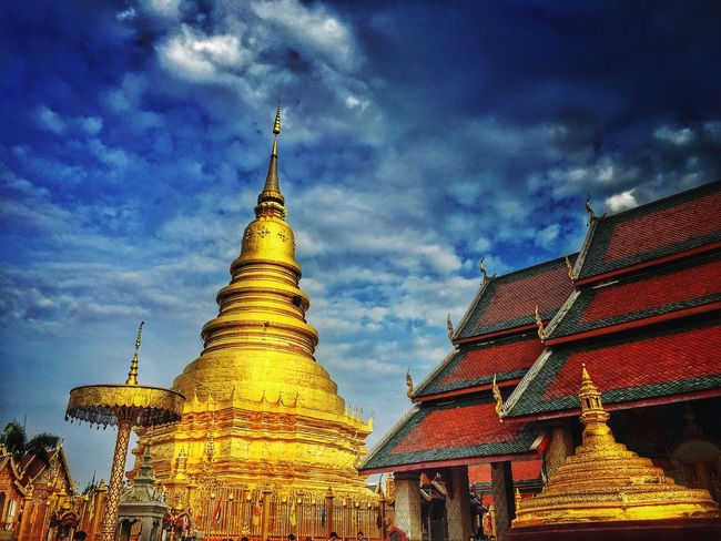 Temple Buddhist Temple Buddhism Pagoda Blue Sky Mobilephotography IPhoneography Culture Thai Cultural