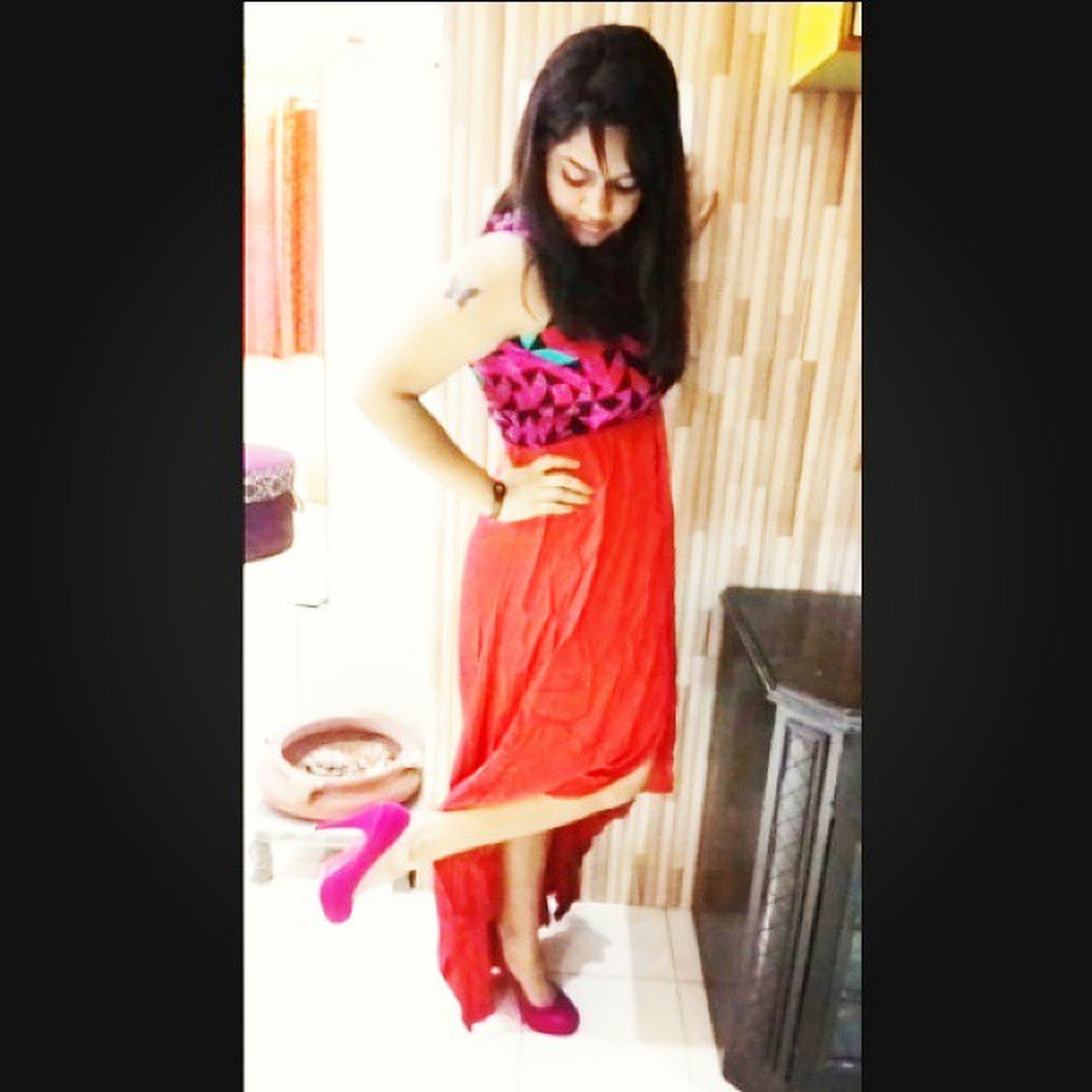 Birthday Outfit Photoshoot!! Mommy's click tho! I love it!! *_* <3 ^_^ ^_- :-* Poser High_Low Red Dress pink heels instalike instaclick instaedit instapic instalove instashare instacool instagood igers doubletap tapthat f4f picoftheday quickfollows