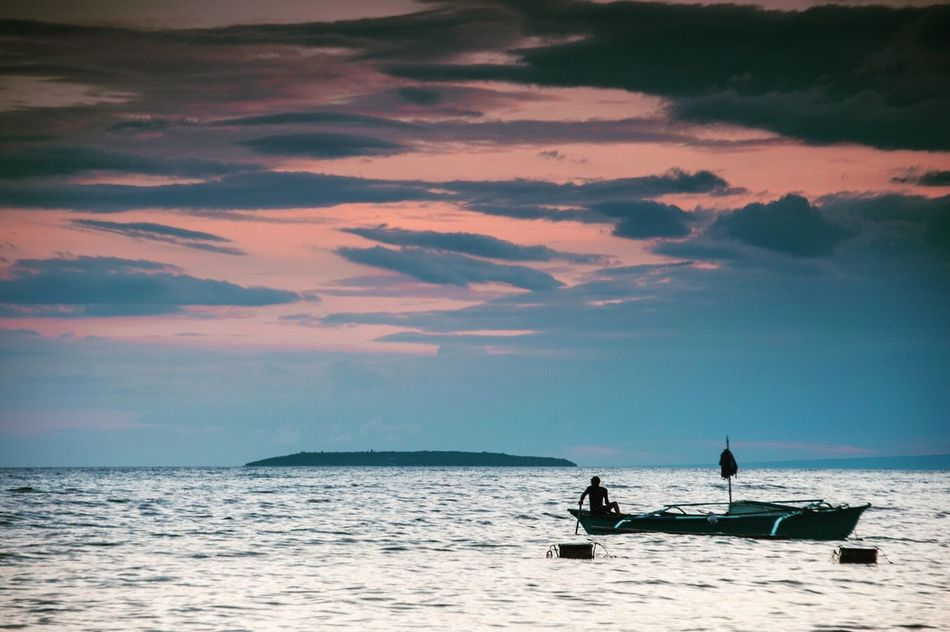 The hardest test in life is the patience to wait for the right moment Sea Water Sky Horizon Over Water Cloud - Sky Nature Beauty In Nature Waterfront Sunset Scenics Real People Outdoors Nautical Vessel Men Traveling Travel Photography Philippines EyeEm Traveling EyeEmPhilppines Cebu Miles Away