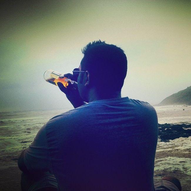 Bigvagator Beach Northgoa Goa beer sunset dusk