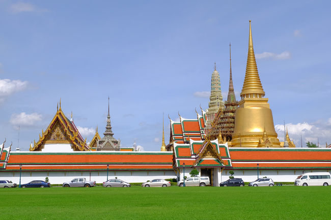 Wat Phra Kaeo temple , landmark of Thailand Ancient Architecture Art Building History Landmark Old Religion Royal Royal Palace Temple Thai Architecture Thai Art Wat Phra Kaeo