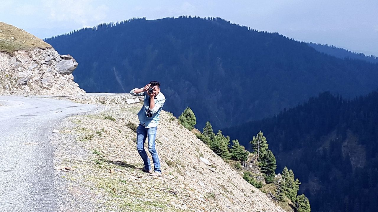 Clicking from heights. Kashmir Beauty Mountain View Kupwara