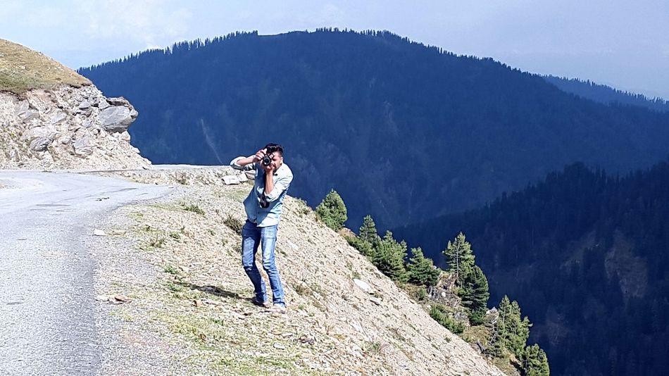 Clicking from heights. Kashmir Beauty Mountain View Kupwara