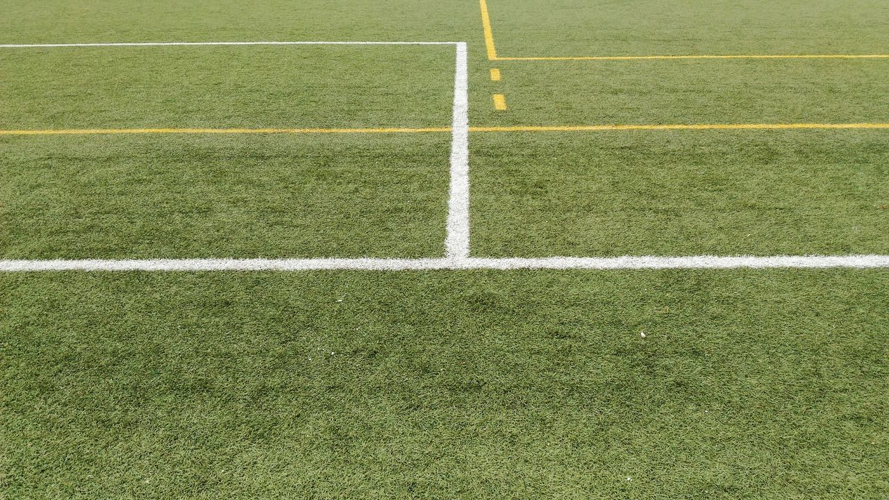 Sport Grass Playing Field Soccer Turf Soccer Field Green Color Backgrounds Full Frame Competitive Sport No People Day Stadium Close-up Marking Textured Effect Grass Court Textured  Green Color