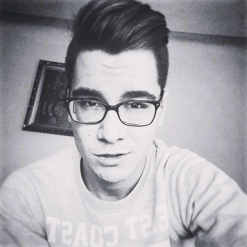Selfie Selfportrait Black & White Summer Glasses Cute Pretty Boy Romania Bucharest