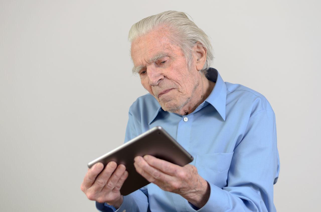 Beautiful stock photos of bart, wireless technology, digital tablet, technology, only men