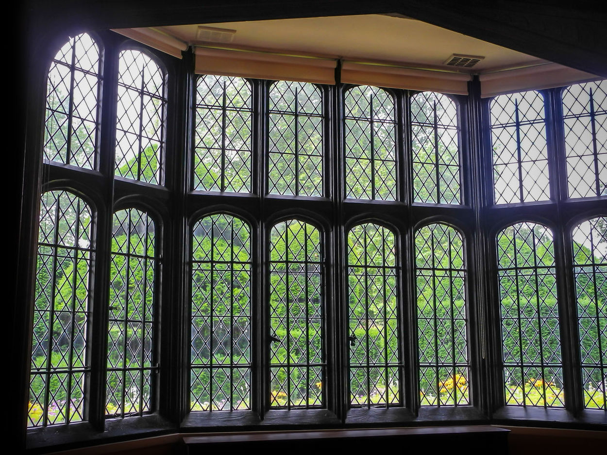 Elizabethan window - Surrey, England Architecture Built Structure Close-up Day Elizabethan England 🌹 Green Color Indoors  Nature No People Window Elizabethan Architecture Huge Window 16th Century Henry VIII Leaded Windows