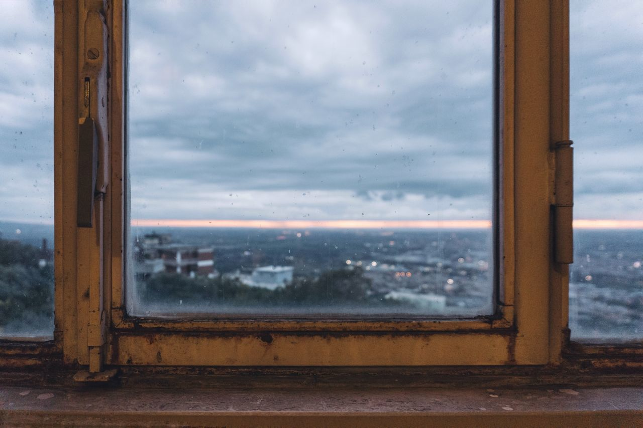 Window Cloud - Sky Sky Water Looking Through Window No People Day Landscape Sunset Outdoors Close-up Panorama