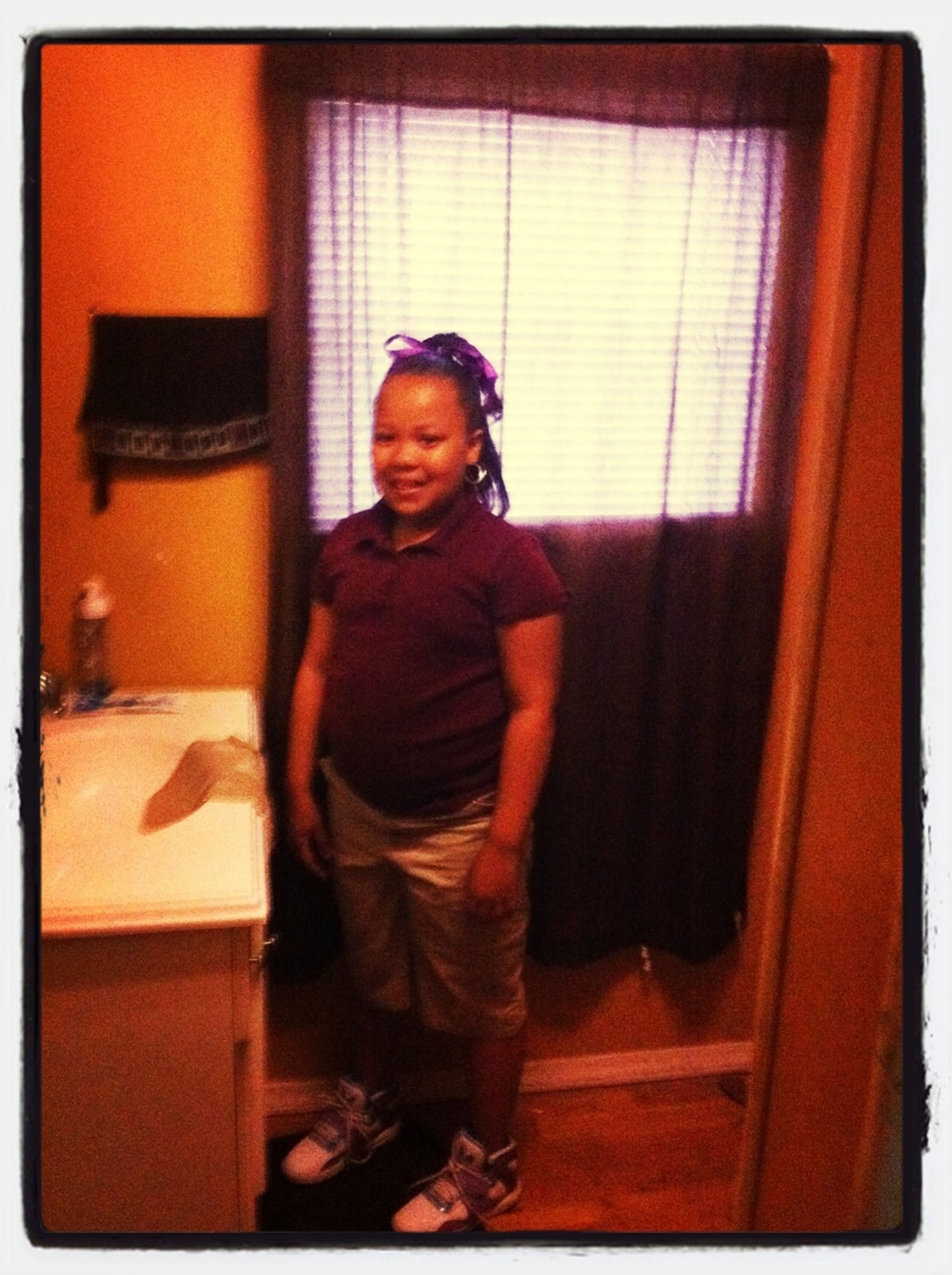 Baby girl all ready for school...