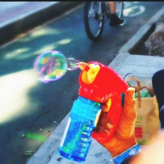 Bubble Guy Bubbles Taking Photos Bubble Gun