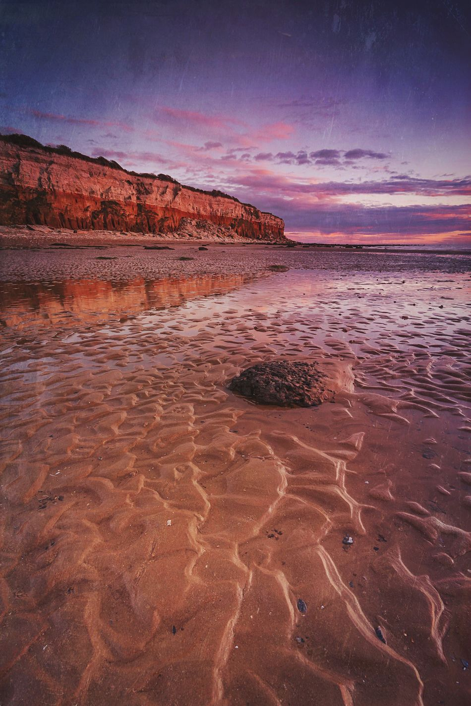 Ripplicious Scenics Beach Beach Sunset Hunstanton Tranquility Landscape Seaside Sea And Sky Travel Destinations EyeEm Masterclass By The Sea Norfolk Uk The Secret Spaces Landscape_Collection Cliff Cloudporn Dusk Colours Clouds And Sky Sunset_collection Britain Outdoors Sand Patterns Ripples Beauty In Nature Nature