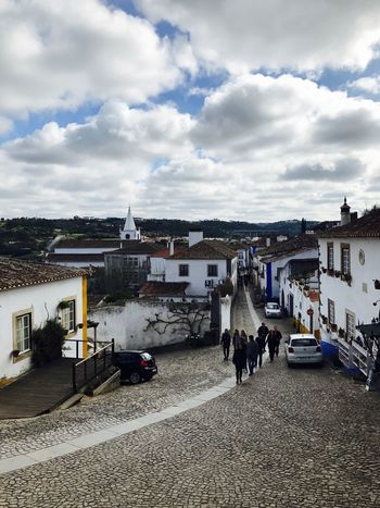Family❤ Óbidos  Real People Sky Architecture Cloud - Sky Building Exterior Built Structure Outdoors City Day Large Group Of People Men Cityscape Crowd People