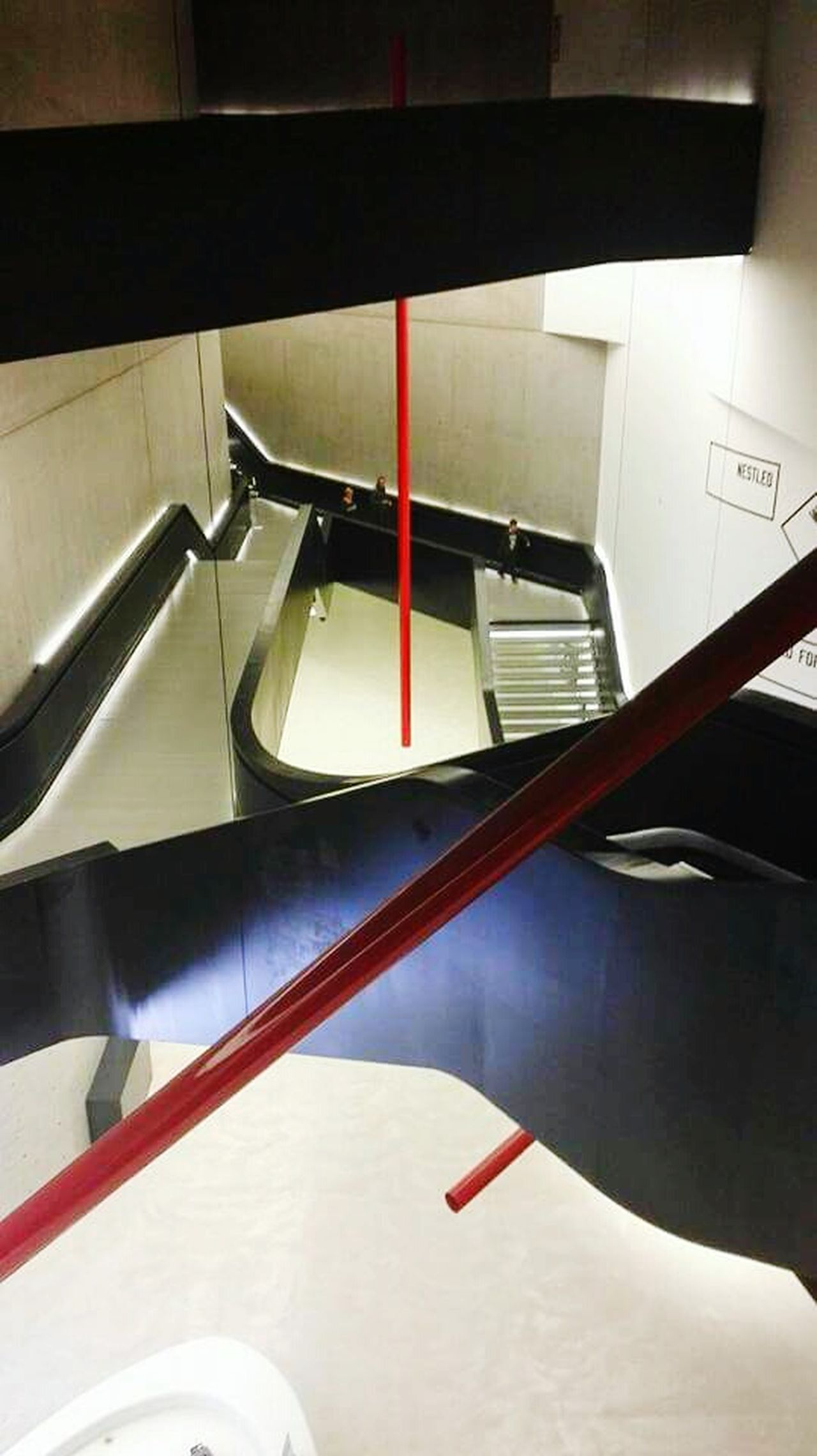 Zaha Hadid Woman Who Inspire You Zaha Hadid's Project MAXXI MAXXI Roma Museum Museum Of Modern Art Roma Italy Travel Destinations Lines Lines And Shapes Red Stairs Modern Architecture Architecture Architecture_collection Architectural Feature White Tube Minimalism Conceptual Photography