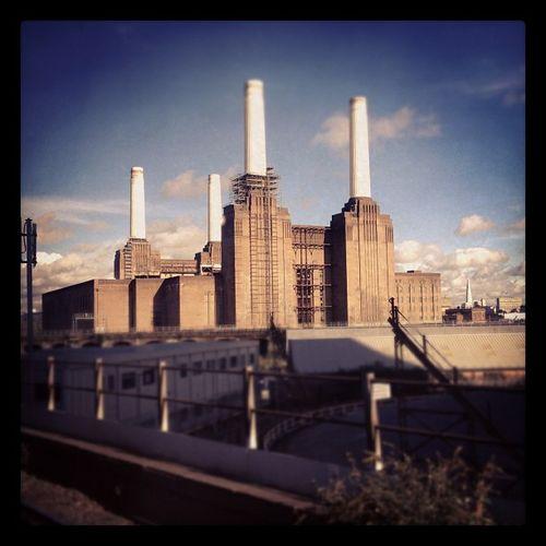 Viewsfromatrain Battersea Power Station london