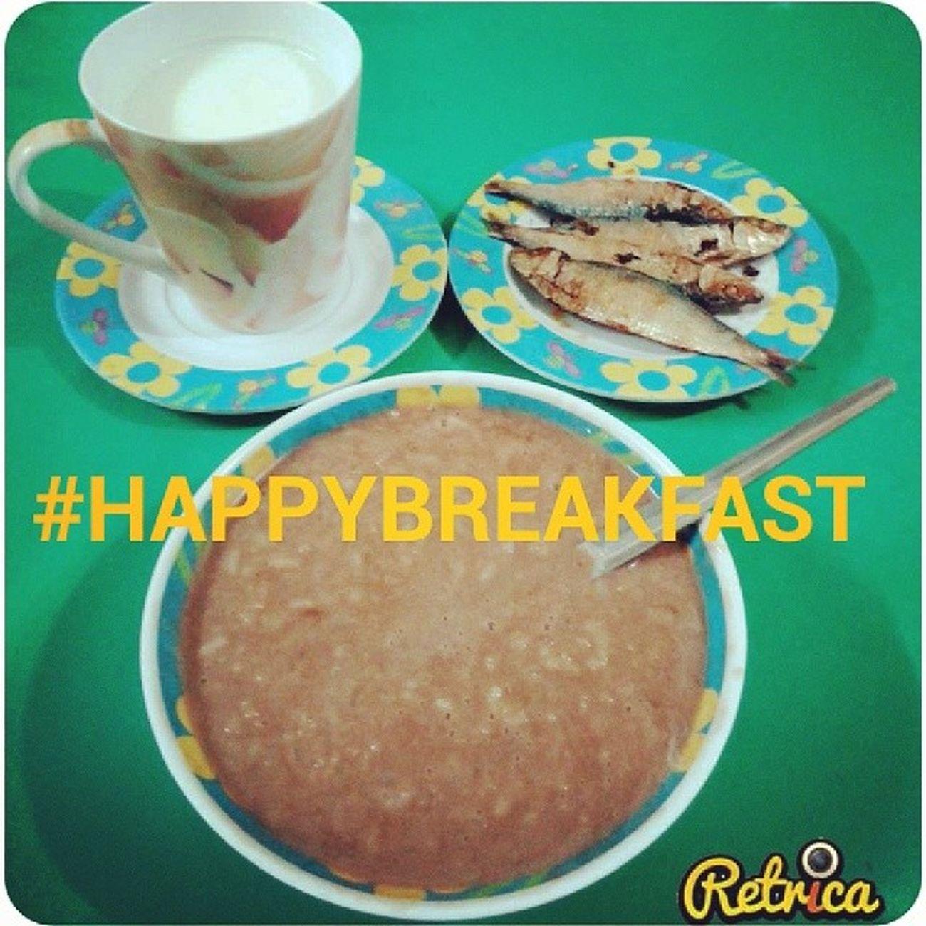 Freshmilk Tuyo Champorado Happybreakfast :)
