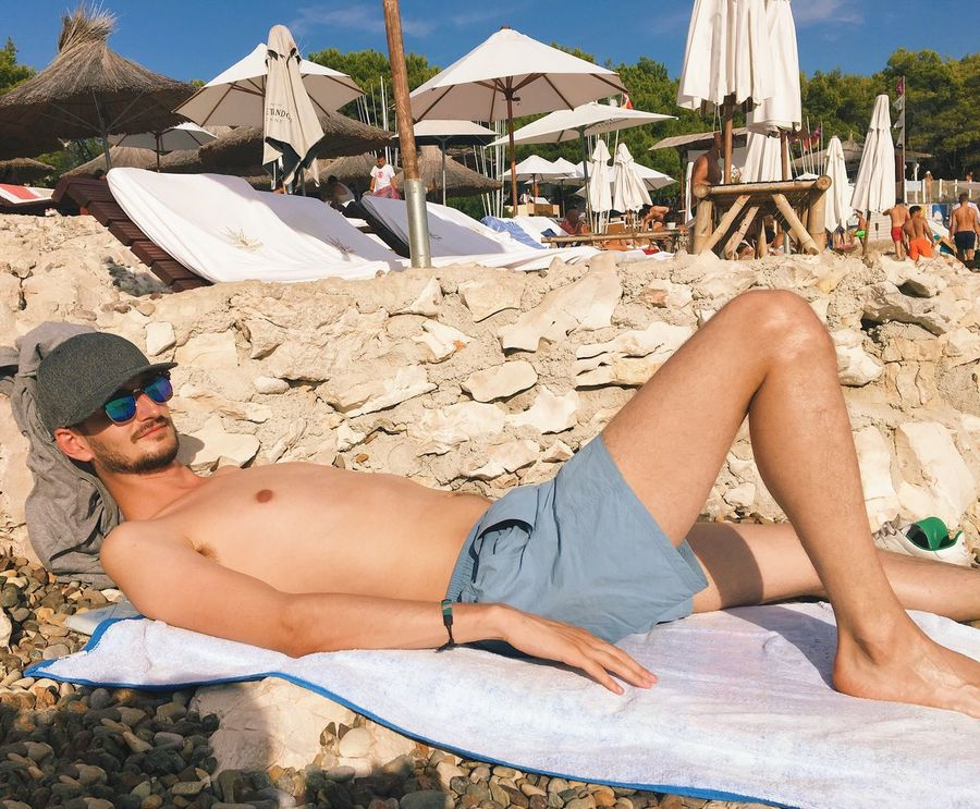 Relaxation Beach Lying Down Summer Sunbathing Vacation Hvar Croatia CarpeDiem