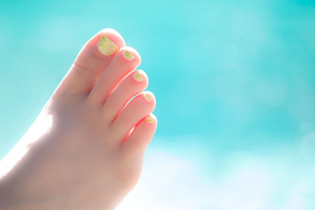 Blue Body Part Close-up Cropped Five Foot Leisure Activity Nailpolish Part Of Person Personal Perspective Poolside Toes Water Photography