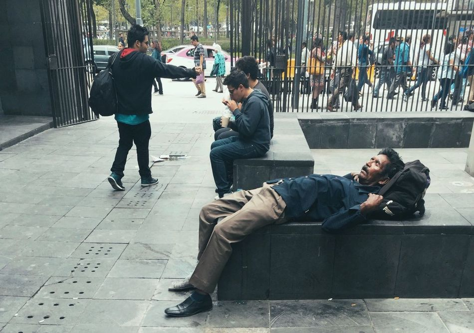 Sleeping Cdmx Mexicocity  City Men People Friendship Adult Outdoors Sleeping Sleepy Tired Urban Streetphotography Street Photography City Urbex Calle