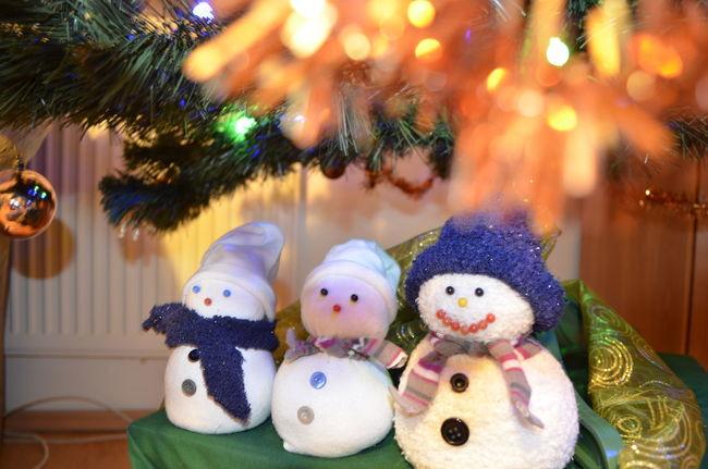 Christmas Decorations Christmastime Merry Christmas! Snowmansocks Under The Christmas Tree