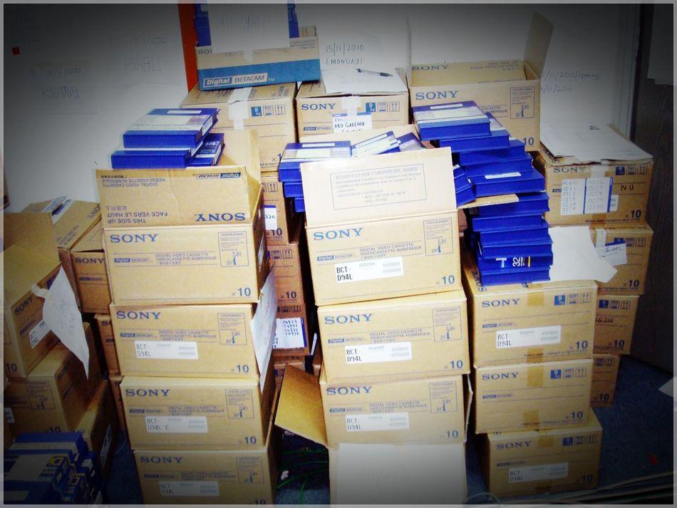 Boxes Digitalbetacam For Shooting At MiniStudio