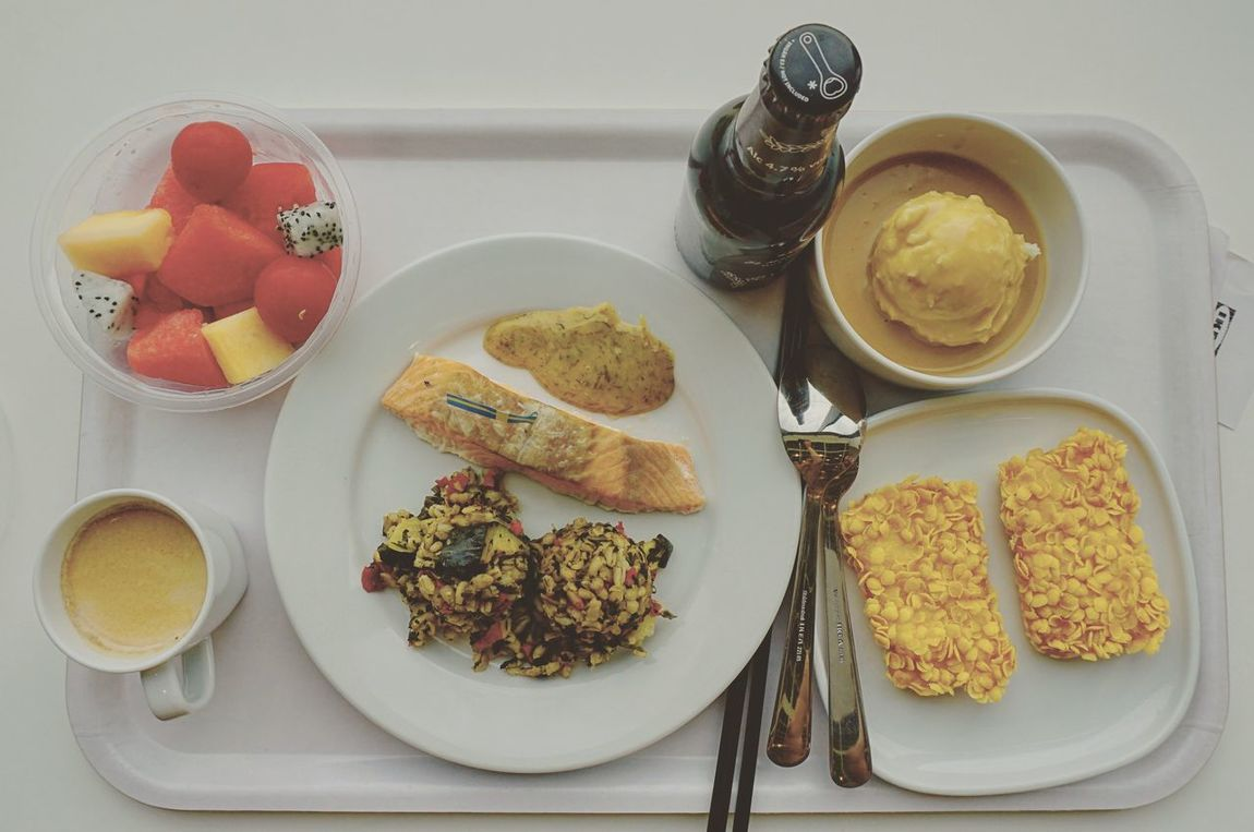 Food And Drink Food Plate Ready-to-eat Healthy Eating Table Bowl Freshness Serving Size Indoors  Bread High Angle View Breakfast No People Directly Above Drink SLICE Close-up Day