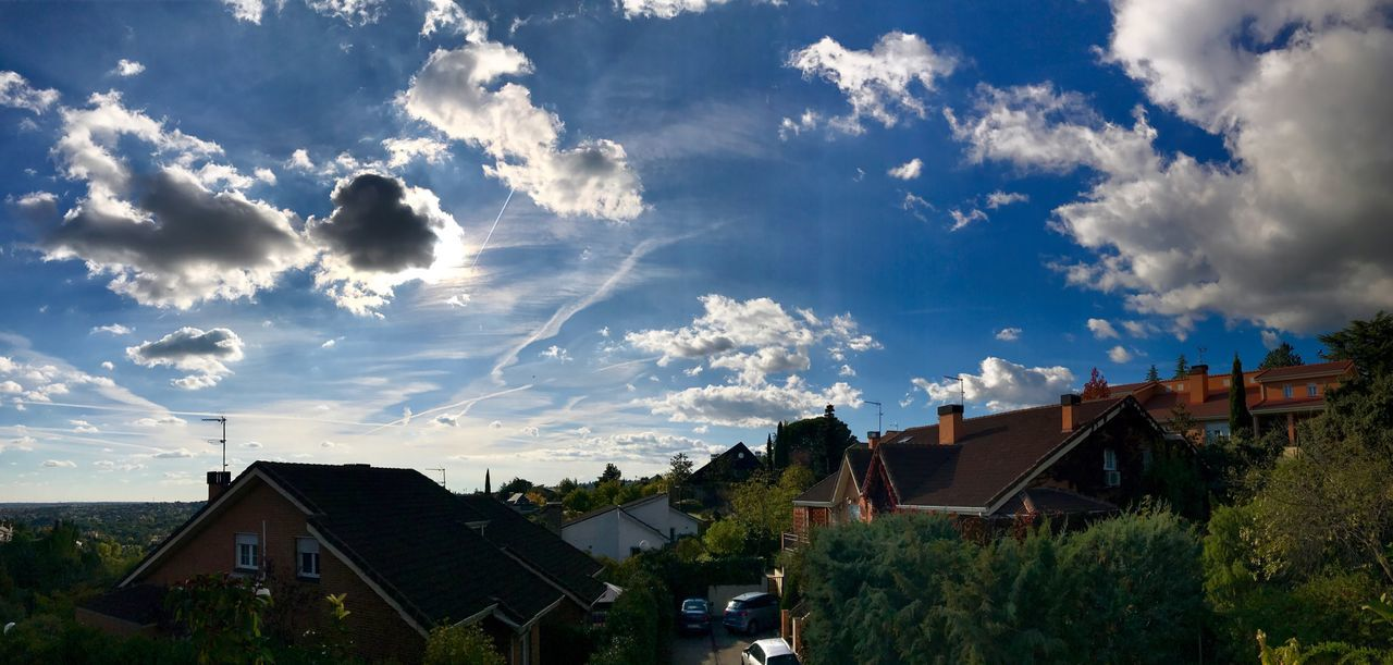 Architecture House Sky Cloud - Sky Residential Building No People Outdoors Tree Day Nature Panorama Panoramic Photography