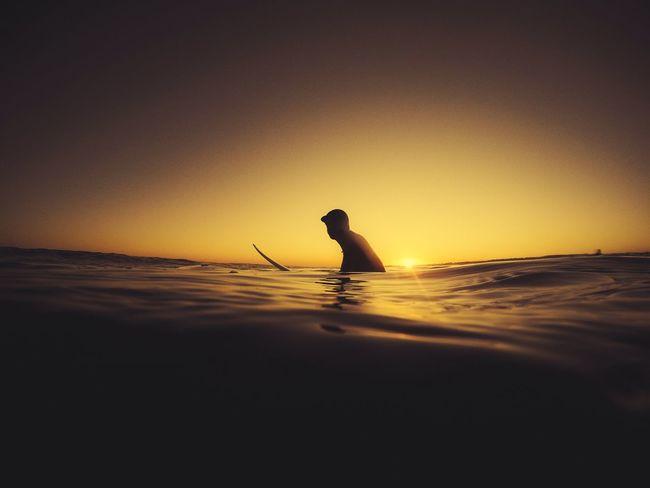 Surfin the golden hour First Eyeem Photo