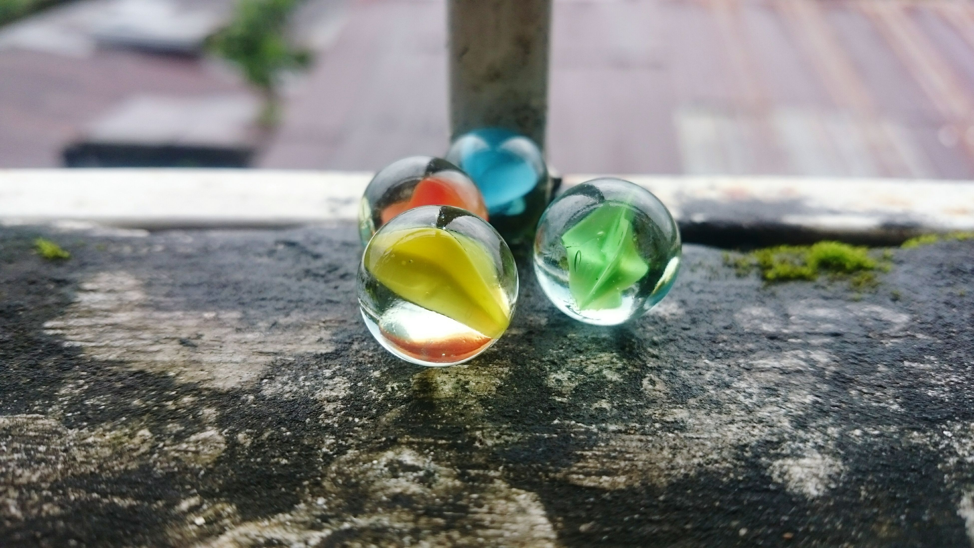 With Smart Phone Reflection Yellow Blue Green Orange Colors Macro Photography Macro_collection Glass Balls Marbles Xperiaz2 At Home in Yangon, Myanmar